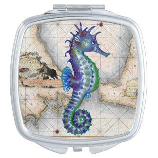 Miroir Compact Carte Gibraltar d'hippocampe