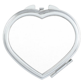 Miroir compact de coeur