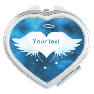 Miroir compact de coeur - ange du coeur