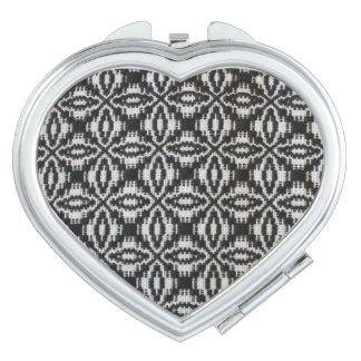 Miroir compact de tissage dépassé