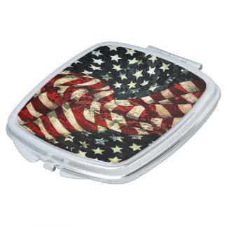 Miroir Compact Drapeau-Camouflage américain par Shirley Taylor
