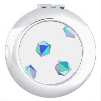 Miroir compact en verre de mer