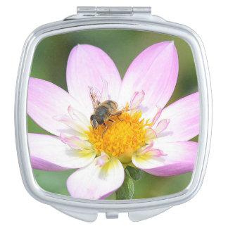 Miroir compact extraordinaire d'abeille