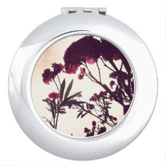 Miroir Compact Rose et orageux par nature