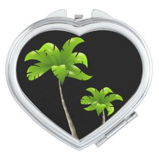 Miroir de contrat de coeur de palmiers