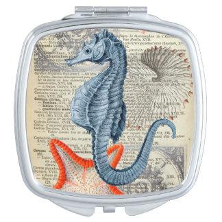 Miroir De Maquillage Collage d'hippocampe