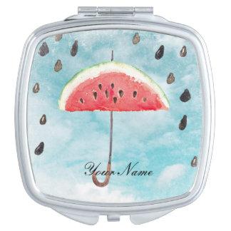 Miroir De Maquillage Pluie fraîche de fruit de melon d'été d'amusement