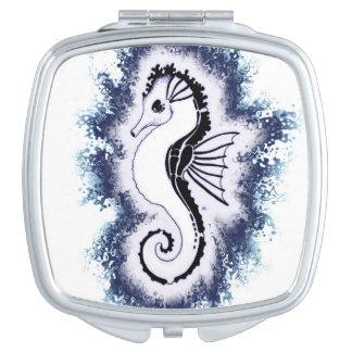 Miroir De Poche Duvet d'hippocampe