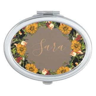 Miroir De Poche Le mariage de guirlande fleurit le vecteur floral