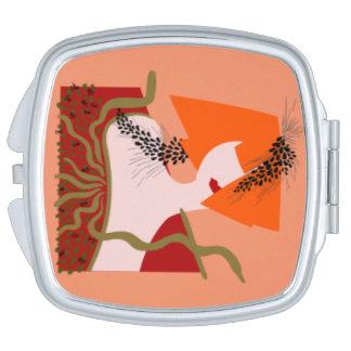 Miroir De Voyage GEISHA au kimono rouge