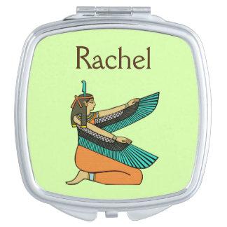 """Miroir égyptien nommé de déesse de """"Rachel"""""""