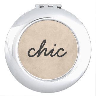 Miroir texturisé élégant de maquillage de base de