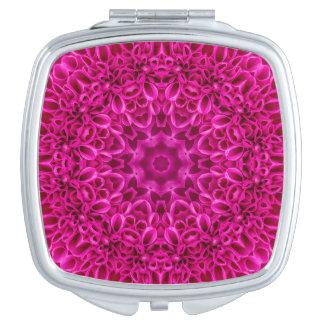 Miroirs vintages de contrat de motif de fleur rose