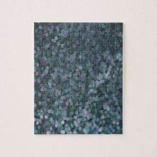 Miroitement de scintillement peint par bleu de big puzzle