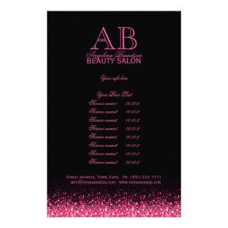 Miroiter les listes des prix roses de noir de prospectus 14 cm x 21,6 cm