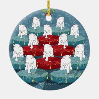 Mise en tambour de douze chats… Ornement (le