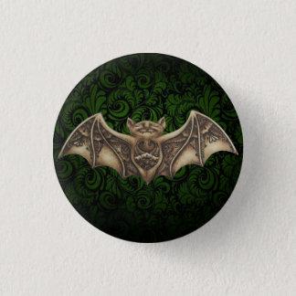 Mishkya le Pin de bouton de vert de batte Badge Rond 2,50 Cm