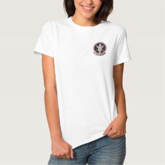 Missile brodé de lance t-shirt brodé