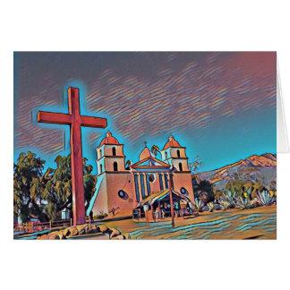 Mission Santa Barbara de la Californie Carte De Vœux