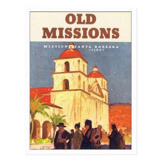 Missions vintages Santa Barbara Carte Postale
