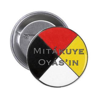 Mitakuye Oyasin tout mon Pin de relations dans Badge Rond 5 Cm