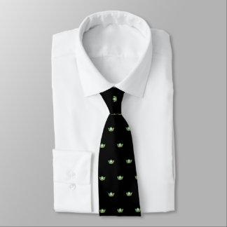 Mlle la cravate de couronne des hommes vert pomme
