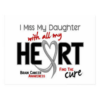 MLLE MY DAUGHTER du cancer du cerveau I Carte Postale
