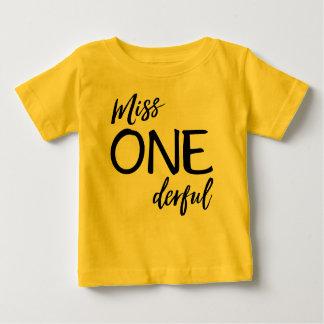 Mlle. Onederful T-shirt Pour Bébé