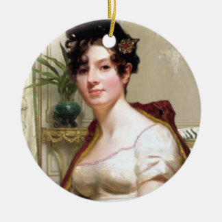 Mme Darcy Ornament Ornement Rond En Céramique
