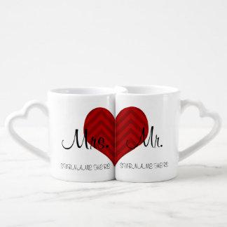 Mme et M. customisés Wedding/date d'anniversaire Mug