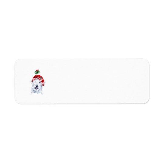 Mme Père Noël Labradoodle Étiquettes D'adresse Retour