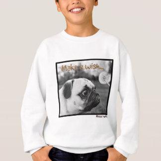Mochi le carlin font un souhait sweatshirt