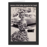 Mode vintage avec la carte d'anniversaire d'humour