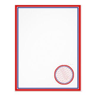 Modèle blanc et bleu rouge de cadre de photo prospectus 21,6 cm x 24,94 cm