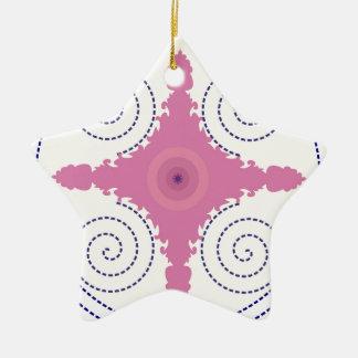 Modèle circulaire de motif de conception pour le ornement étoile en céramique