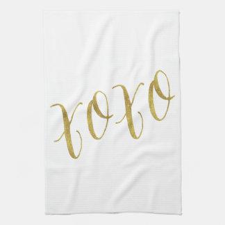 Modèle d'arrière - plan de scintillement d'or de serviettes éponge