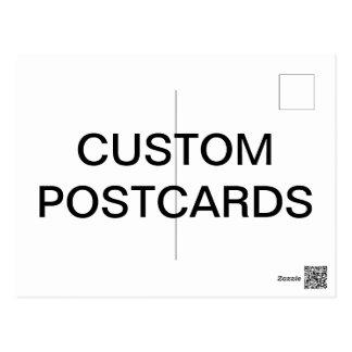 Modèle de blanc de carte postale de photo