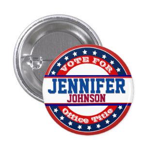 Modèle de campagne politique badge rond 2,50 cm