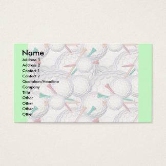 Modèle de carte de profil - golf