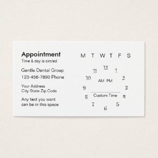 Modèle de carte de rendez-vous de dentiste