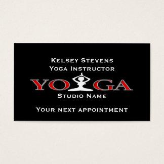 Modèle de carte de rendez-vous de pose de yoga de