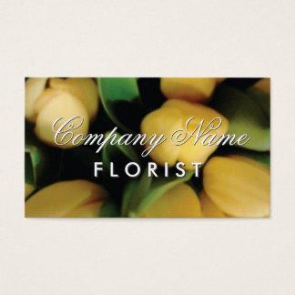 Modèle de carte de visite de fleuriste avec des