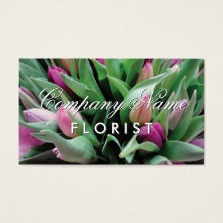 Modèle de carte de visite de fleuriste avec le