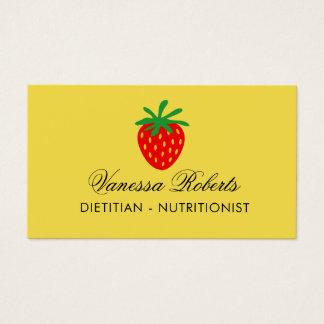 Modèle de carte de visite de nutritionniste de