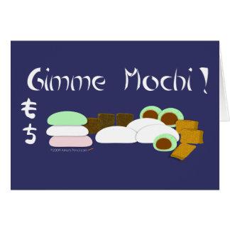 Modèle de carte de voeux de Gimme Mochi