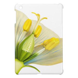 Modèle de fleur avec des stamens et des pistils coque iPad mini
