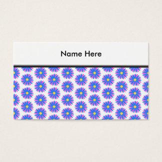 Modèle de fleur cartes de visite