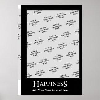 Modèle de motivation d'affiche de bonheur