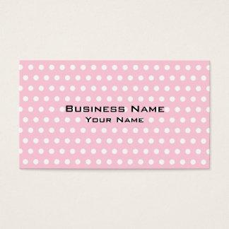 Modèle de pois rose et blanc carte de visite standard