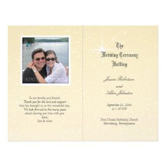 Modèle de programme de mariage de photo prospectus 21,6 cm x 24,94 cm